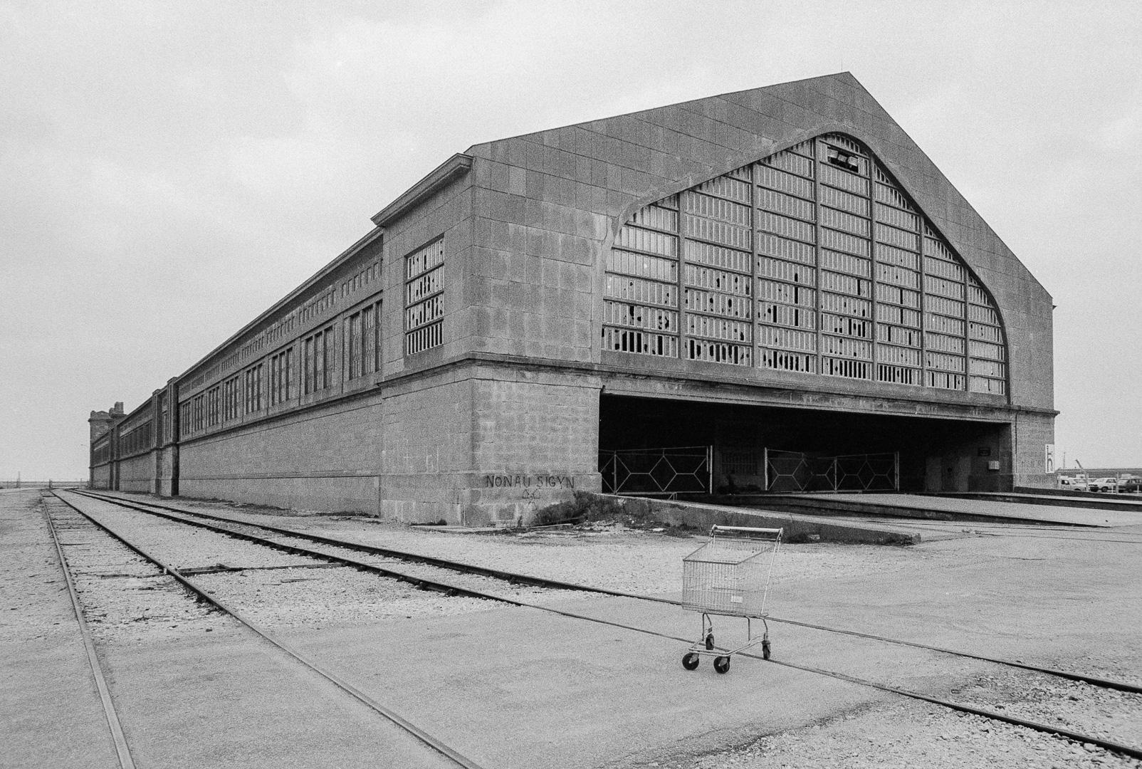 La gare maritime de Cherbourg, 1985.